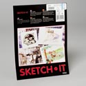 Sketch It Bright White Drawing Paper 9x12 Inch 24 Ct Glued Pad For Use W/pencil,charcoal,crayo