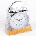 Clock Alarm Metal Striker Bell Chrome Finish Quartz Movement #tc1204ic