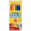 Playskool Markers 6ct Super Tip Washable In Color Window Box