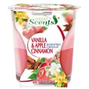 Scented Candles 2 In 1 3 Oz. Vanilla And Apple Cinnamon