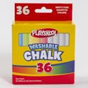 Chalk 36ct Boxed Playskool 24-wht And 12-colored Washable