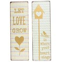 Wall Decor 6x19 Love And Home Messaging 2 Assorted Metal(8.50)