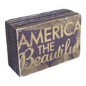 Wall Sign Block Amerca Beautiful 6x2x4 Mdf (4.00)