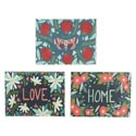 Wall Art 10.5x8.5 3 Assorted Love,home,butterfly Mdf (9.00)