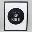 Wall Decor 11x14 Be Bold Lighted Led Mdf (17.50) # 121563