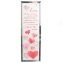 Rhinestone Plaque Love 7 X 2.25 Glass (4.25)