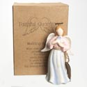 Angel Figurine Wedding 5.25 Inch Polyresin (8.50)