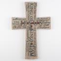 Cross Wall 14in Poly Resin Names Of Jesus (17.50)