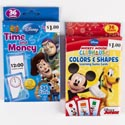 Flash Cards Disney 2 Assorted Time/money Toy Story & Mickey Colors And Shapes