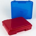 Project Case 12x13x3 Plastic Portable Translucent *5.99* Blue And Red Assorted