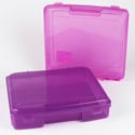 Project Case 12x13x3 Plastic Portable Translucent *5.99* Violet And Ravish Assorted