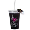Tumbler Insulated 16 Oz Teacher Acrylic W/straw (4.75)