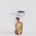 Tumbler Insulated 16oz Elvis Gld Acrylic W/straw (4.75)