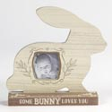 Photo Frame 7.75x7.5 Rabbit Wooden W/3x5 Opening (4.50)