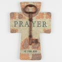 Cross 10in Poly Resin Prayer Is The Key (13.50)