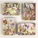 Box Sign 9x6.75 Fairy Village Wooden 4 Asst (4.50)