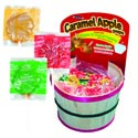 Candy Caramel Apple Pops Tootsie 3asst In Wicker Display Basket Grn Apple,gldn Delic,red Mcnts