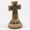 Cross Standing 9.25in Poly Resin Tan And Brown (16.50) # 1804