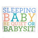 Wall Decor Sleeping Baby 9 X 11-3/4 Mdf (10.00)