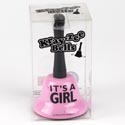 Bell 5.25 X 3 It's A Girl Acetate Box Pink (4.50)