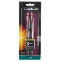 Pens 2ct Red Gel Ink Roller Uniball 207 Retractable *4.99* Carded