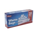 Trash Bags 20ct - 8 Gallon White Kitchen