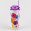Combo Cups 16 Oz Drink/4 Oz Snack Flowers (6.00)