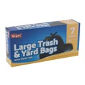 Trash Bags 7 Ct - 33 Gal Black