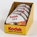 Kodak Recordable Cd-r 10pk Puck 5pc Display 52 X 80min *6.49*