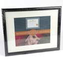 Photo Frame Document 11 X 14 Glass Black #vl1011b114