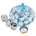 Candy Snow Fun Balls Choc Flav Foilwrap'd 4oz Mesh Bag 18ct Pdq Christmas Candy