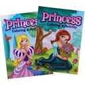 Coloring Book Princess 96 Page In Pdq 2 Asst With Bonus Cut Out