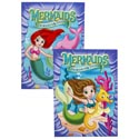 Coloring Book Mermaids 96 Pages In Pdq 2 Asst W/bonus Cut Outs