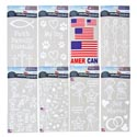 Auto Window Stickers 180pc Display 6 X 13 8 Asst See N2 # D-r613-acd