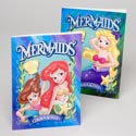 Color/activity Book Mermaids Foil/embossed Finish In 24pc Pdq Made In Usa