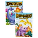 Color/activity Book Dino's Foil/embossed In 24pc Pdq Made In Usa