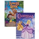 Coloring Book Fairy Tales 96pg 2 Assorted In Pdq Cinderella And Junglebook