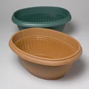 Planter 13 Inch Oval Terra Cotta, Green