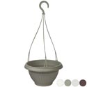 Planter Hanging 10.5in Dia Terra Cotta, Green