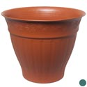 Planter 19.75 Round X 16h Green, Terra Cotta #hg9006b No Holes