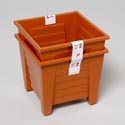 Planter 4.75 Inch Square S/2 Terra Cotta, Green In Pdq #gloria 12