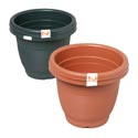 "Planter 2pk Round 7""x5.5""h Green, Terra Cotta In Pdq No Holes"