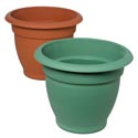 Planter 10 In Round X 11 In Hi Terra Cotta, Green #gg 1