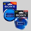 Batteries Sony 2pk Alkaline Display 244 Pc Shipper  See N2 174pc Of Aa 70pc Of Aaa