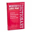 Dictionary Webster's Large Print 256 Pg In 24pc Pdq B2510p