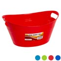 Basket Oval W/dbl Handle 4 Colors 5.25x12.5 In Pdq Spring N Summer