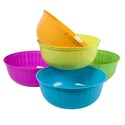 Serving Bowl Round 12 Inch 4 Summer Colors In Pdq