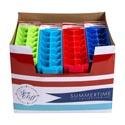 Ice Cube Tray 2pk W/header Card 4 Summer Colors In 96pc Pdq 33gm Ea