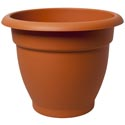 Self Watering Planter Round Terra Cotta 17 X 17 13.5 #dahlia 17 -no Holes