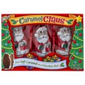 Candy Caramel Claus 3oz/3pk In Foilwrap And Boxed In 18ct Pdq